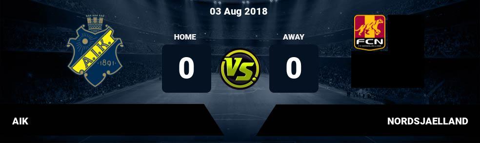 Prediksi AIK vs NORDSJAELLAND 03 Aug 2018