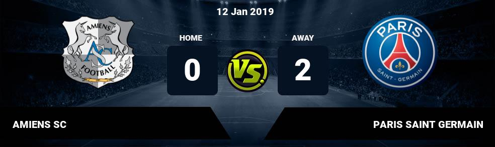 Prediksi AMIENS SC vs PARIS SAINT GERMAIN 12 Jan 2019
