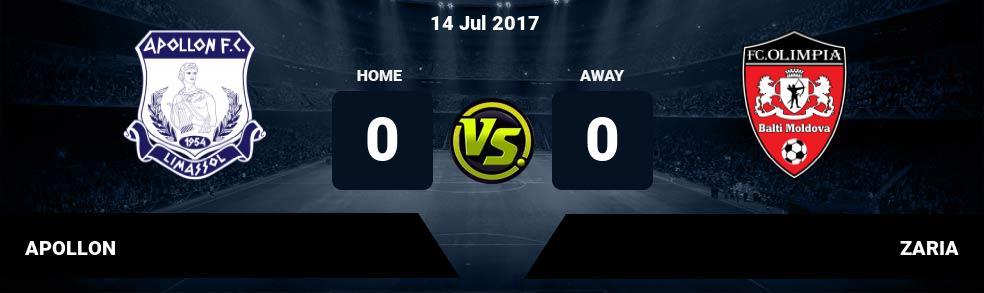 Prediksi APOLLON vs ZARIA 14 Jul 2017