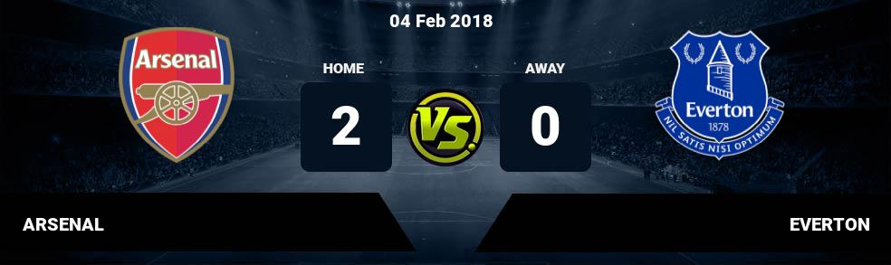 Prediksi ARSENAL  vs EVERTON 04 Feb 2018