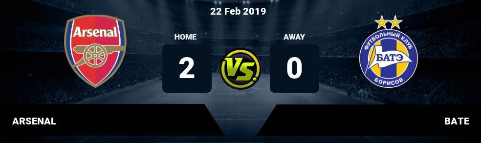 Prediksi ARSENAL vs BATE 22 Feb 2019