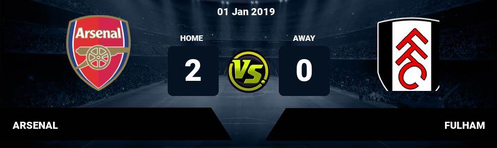 Prediksi ARSENAL vs FULHAM 01 Jan 2019