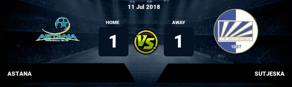 Prediksi ASTANA vs SUTJESKA 11 Jul 2018