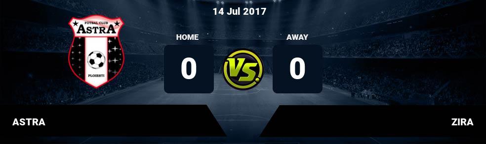 Prediksi ASTRA vs ZIRA 14 Jul 2017