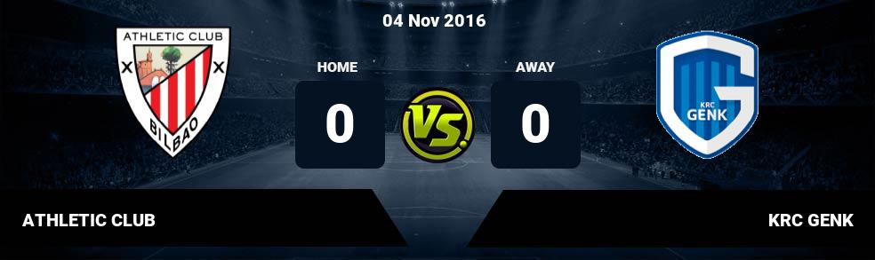 Prediksi ATHLETIC CLUB vs KRC GENK 04 Nov 2016