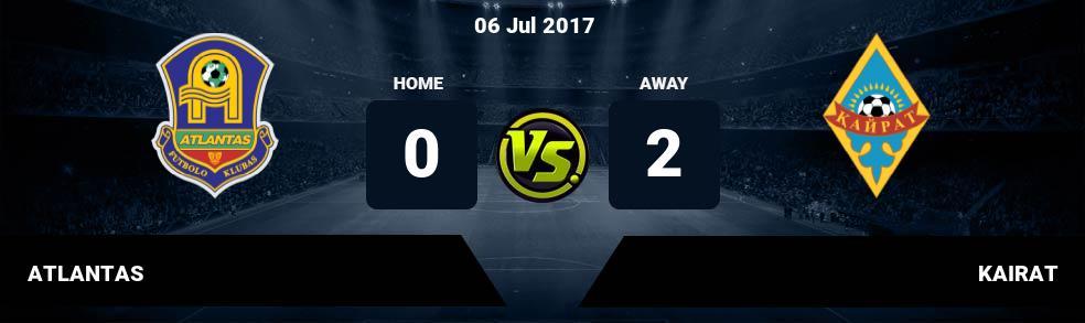 Prediksi ATLANTAS vs KAIRAT 06 Jul 2017