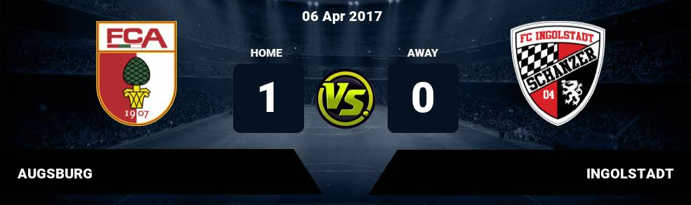 Prediksi AUGSBURG vs INGOLSTADT 06 Apr 2017