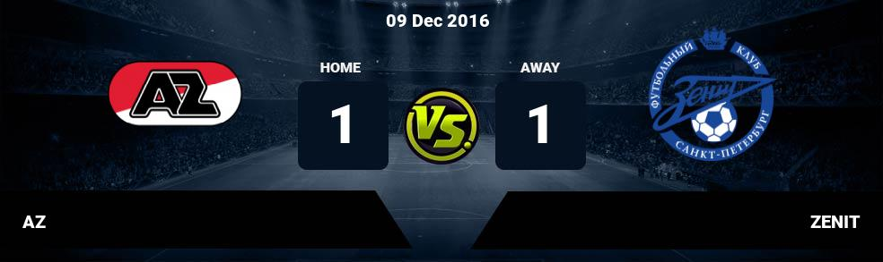 Prediksi AZ vs ZENIT 09 Dec 2016