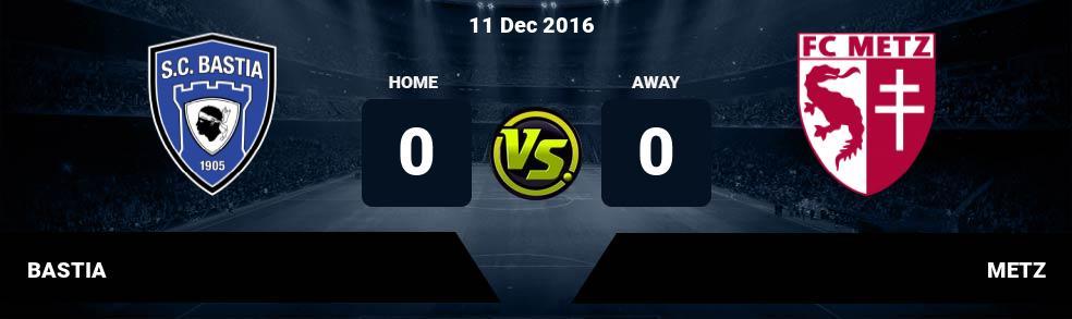 Prediksi BASTIA vs METZ 11 Dec 2016