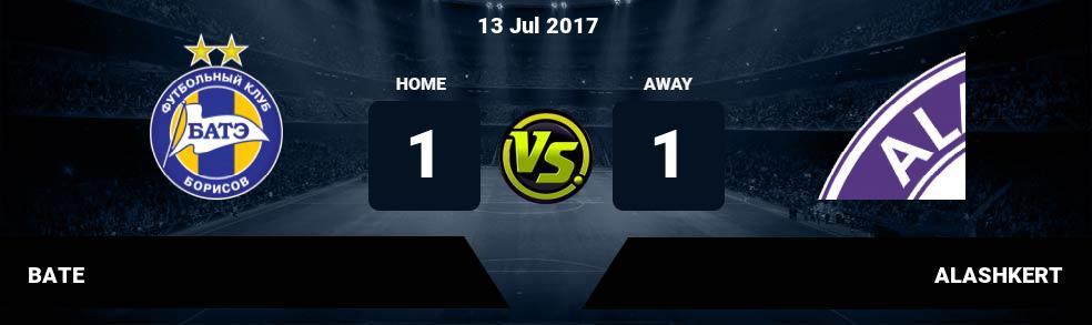 Prediksi BATE vs ALASHKERT 13 Jul 2017
