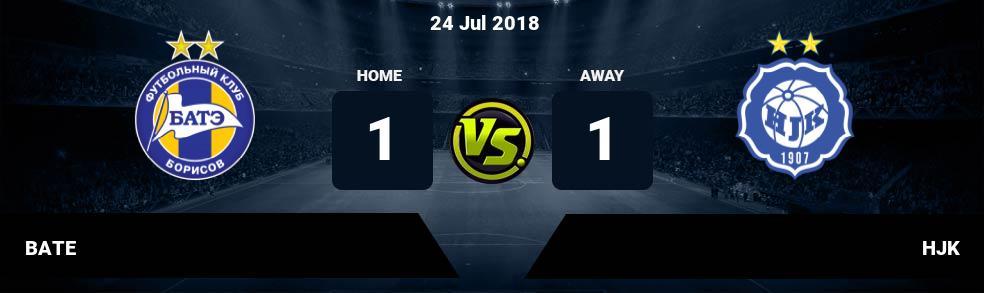 Prediksi BATE vs HJK 24 Jul 2018