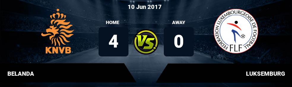 Prediksi BELANDA vs LUKSEMBURG 10 Jun 2017