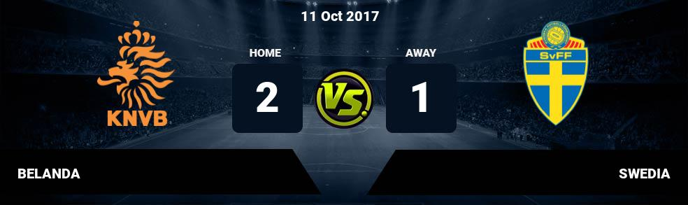 Prediksi BELANDA vs SWEDIA 11 Oct 2017