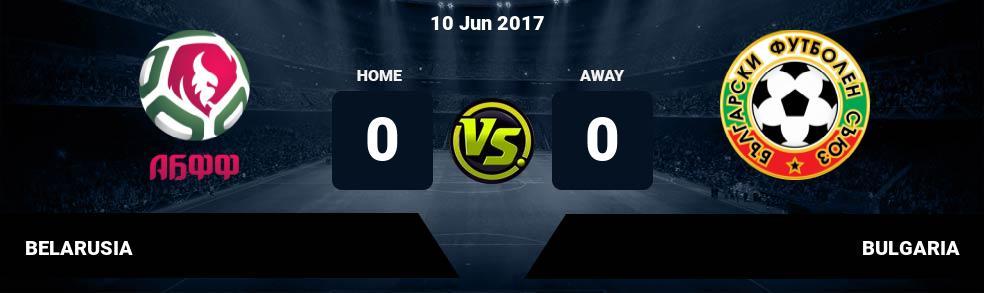Prediksi BELARUSIA vs BULGARIA 10 Jun 2017
