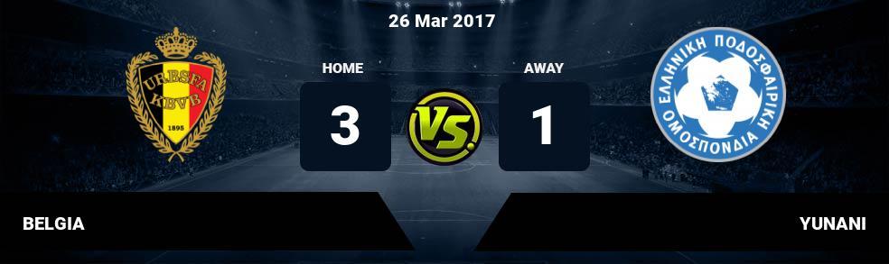 Prediksi BELGIA vs YUNANI 26 Mar 2017