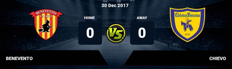 Prediksi BENEVENTO vs CHIEVO 30 Dec 2017