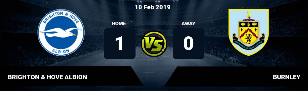 Prediksi BRIGHTON & HOVE ALBION  vs BURNLEY 10 Feb 2019
