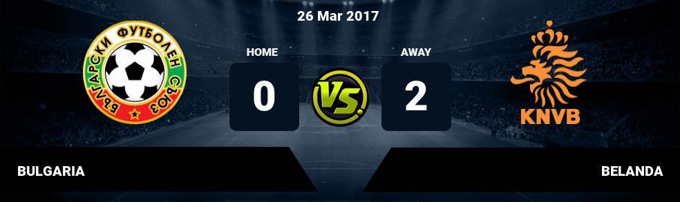 Prediksi BULGARIA vs BELANDA 26 Mar 2017