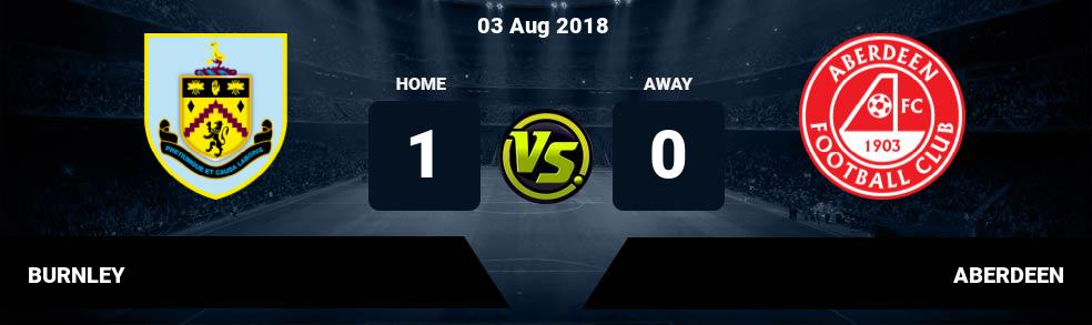 Prediksi BURNLEY  vs ABERDEEN 03 Aug 2018