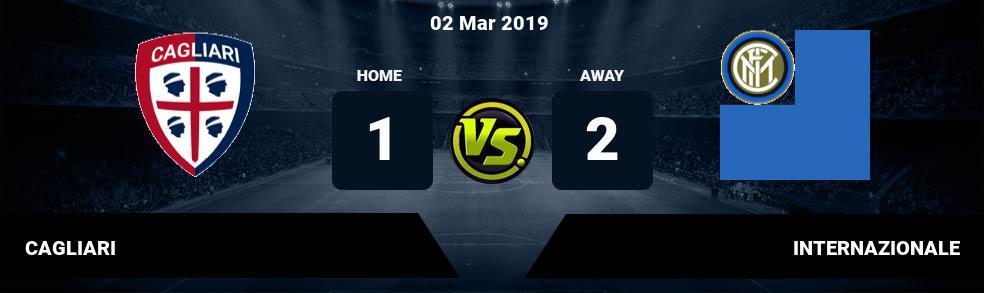 Prediksi CAGLIARI vs INTERNAZIONALE 02 Mar 2019