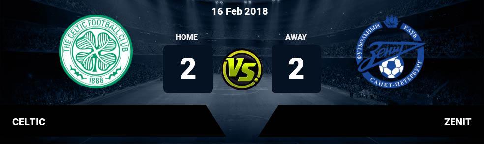 Prediksi CELTIC vs ZENIT 16 Feb 2018
