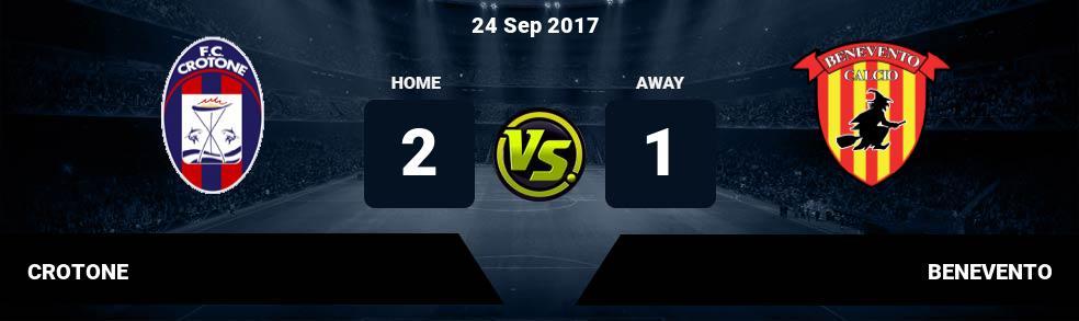 Prediksi CROTONE vs BENEVENTO 24 Sep 2017