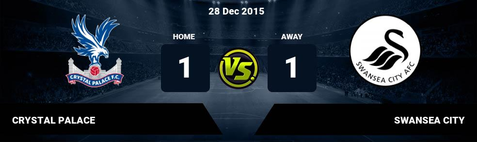 Prediksi CRYSTAL PALACE vs SWANSEA CITY 04 Jan 2017