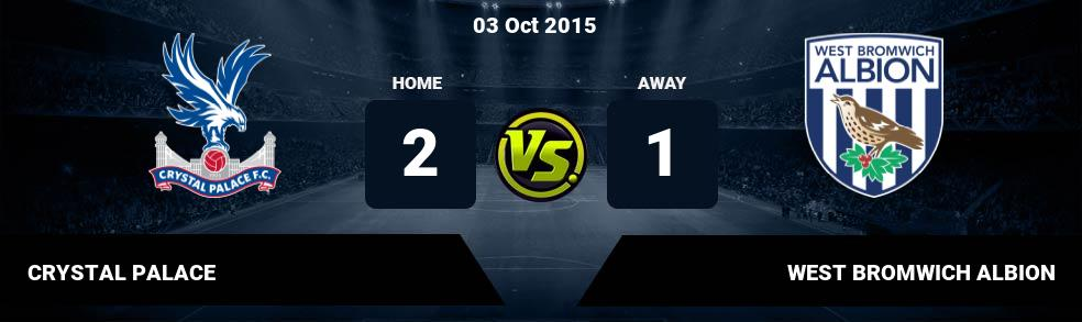 Prediksi CRYSTAL PALACE vs WEST BROMWICH ALBION 13 May 2018