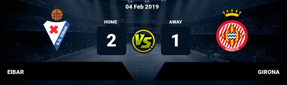 Prediksi EIBAR vs GIRONA 04 Feb 2019