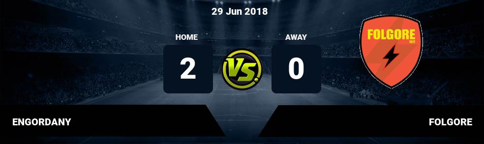 Prediksi ENGORDANY vs FOLGORE 29 Jun 2018