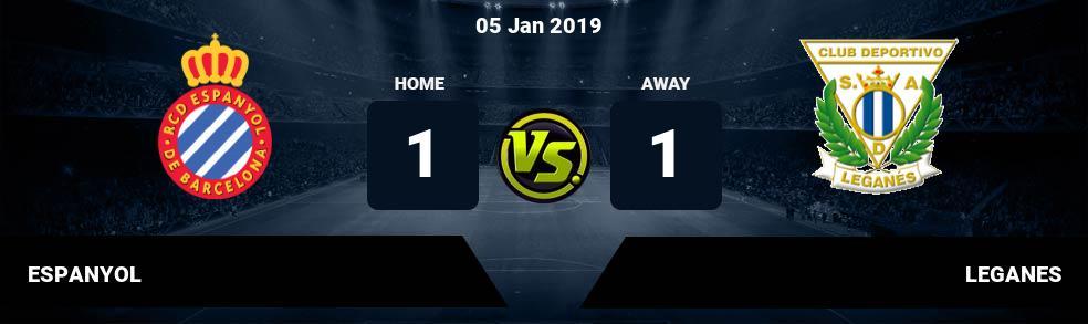 Prediksi ESPANYOL vs LEGANES 05 Jan 2019