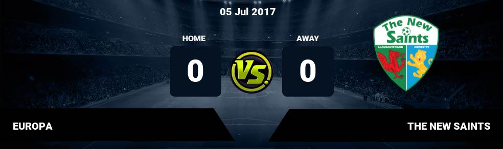 Prediksi EUROPA vs THE NEW SAINTS 05 Jul 2017