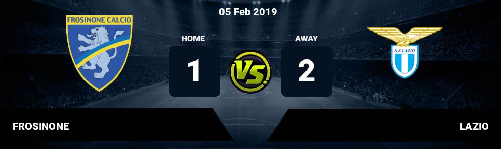 Prediksi FROSINONE vs LAZIO 05 Feb 2019