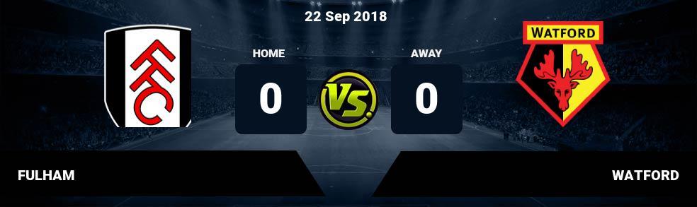 Prediksi FULHAM vs WATFORD 22 Sep 2018