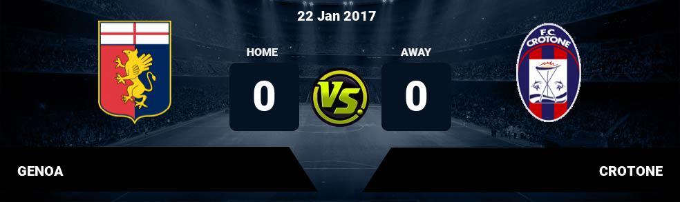 Prediksi GENOA vs CROTONE 14 Apr 2018