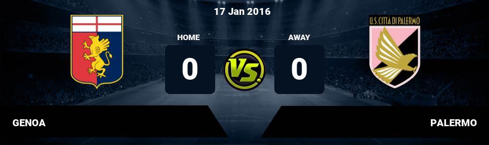 Prediksi GENOA vs PALERMO 19 Dec 2016