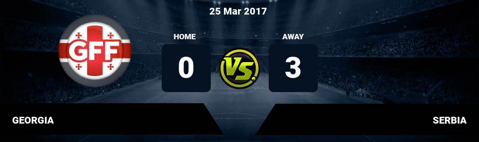 Prediksi GEORGIA vs SERBIA 25 Mar 2017