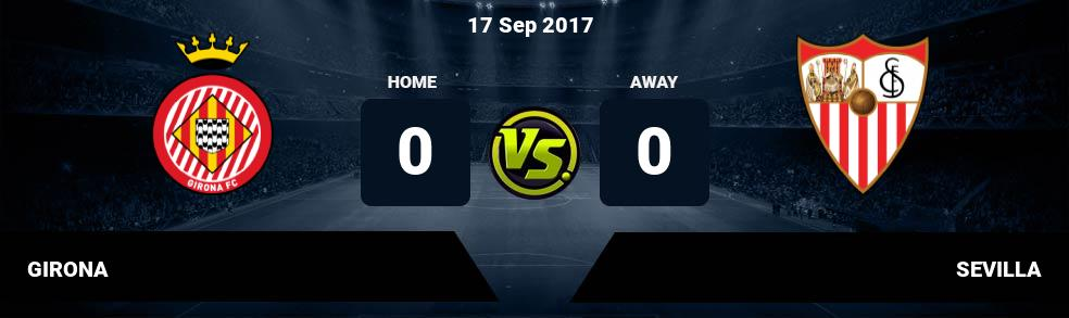 Prediksi GIRONA vs SEVILLA 17 Sep 2017
