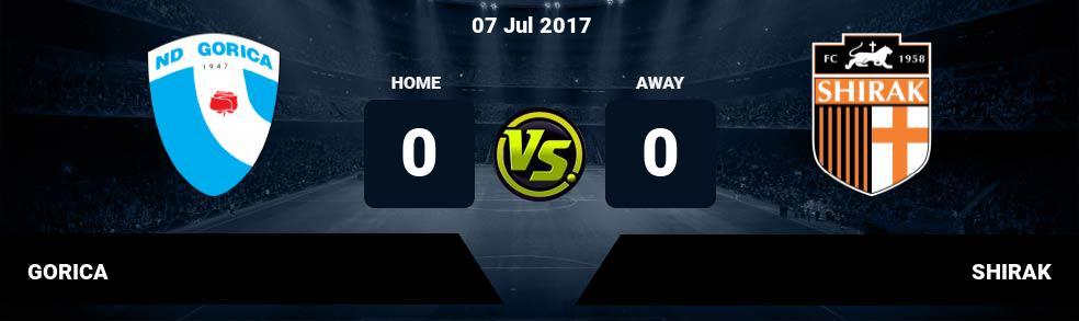 Prediksi GORICA vs SHIRAK 07 Jul 2017