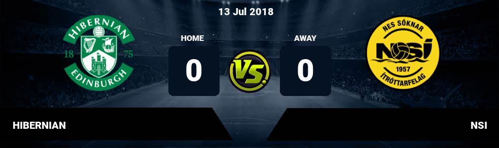 Prediksi HIBERNIAN vs NSI 13 Jul 2018