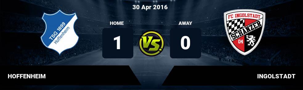 Prediksi HOFFENHEIM vs INGOLSTADT 04 Mar 2017