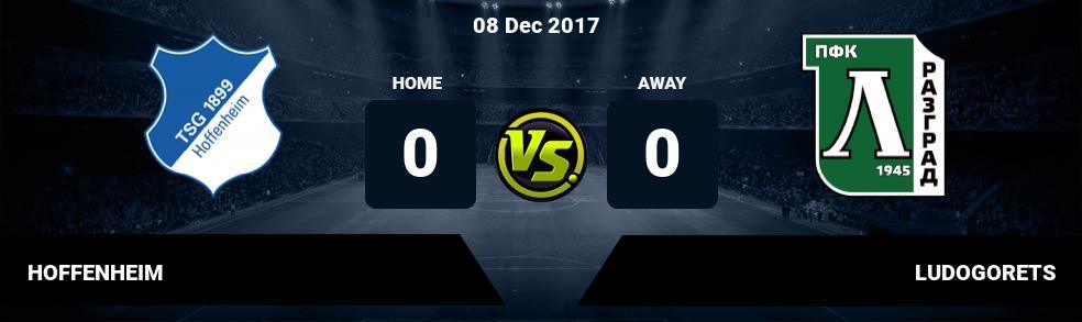 Prediksi HOFFENHEIM vs LUDOGORETS 08 Dec 2017