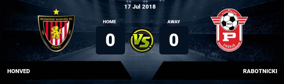 Prediksi HONVED vs RABOTNICKI 17 Jul 2018