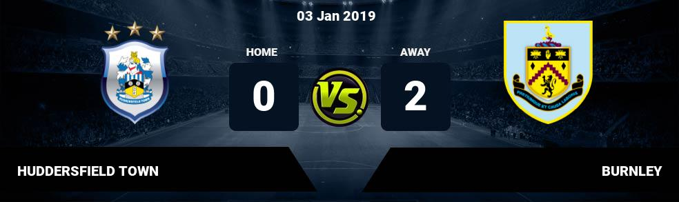 Prediksi HUDDERSFIELD TOWN vs BURNLEY 03 Jan 2019