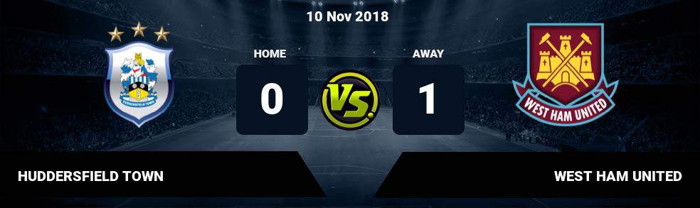 Prediksi HUDDERSFIELD TOWN vs WEST HAM UNITED 13 Jan 2018