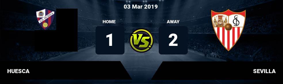 Prediksi HUESCA vs SEVILLA 03 Mar 2019