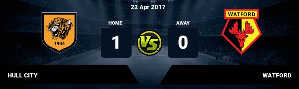 Prediksi HULL CITY vs WATFORD 22 Apr 2017