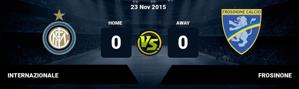 Prediksi INTERNAZIONALE vs FROSINONE 25 Nov 2018