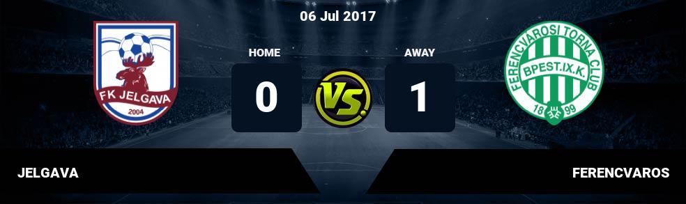 Prediksi JELGAVA vs FERENCVAROS 06 Jul 2017