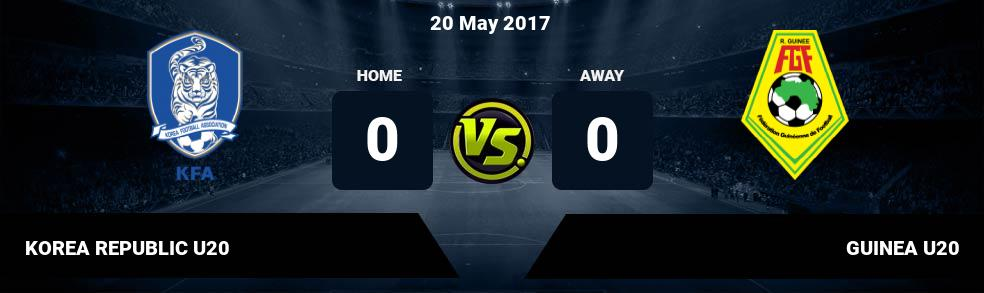 Prediksi KOREA REPUBLIC U20 vs GUINEA U20 20 May 2017